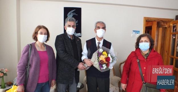 CHP EMEKLİ ÖĞRETMENLERİ ZİYARET ETTİ