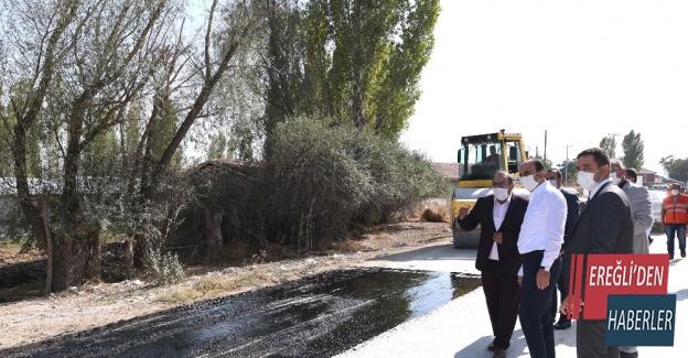 """Başkan Altay: """"İlçelerimize 2020'de 380 kilometre yol yaptık"""""""