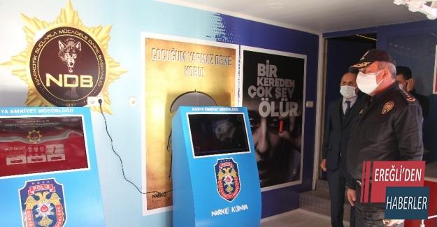 Narkotik Eğitim Tırı Konya'da hizmete başladı