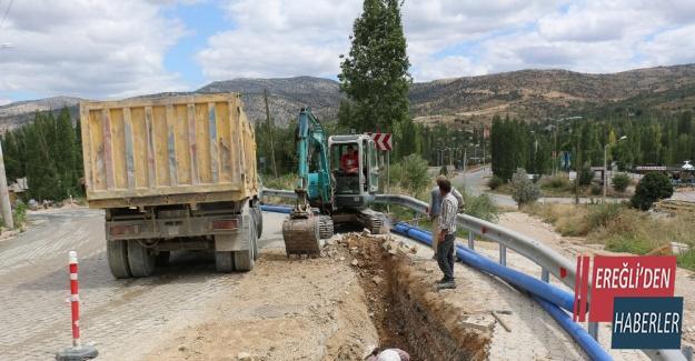 Konya Büyükşehir'den 2020'de 432,3 kilometre su ve kanalizasyon şebekesi