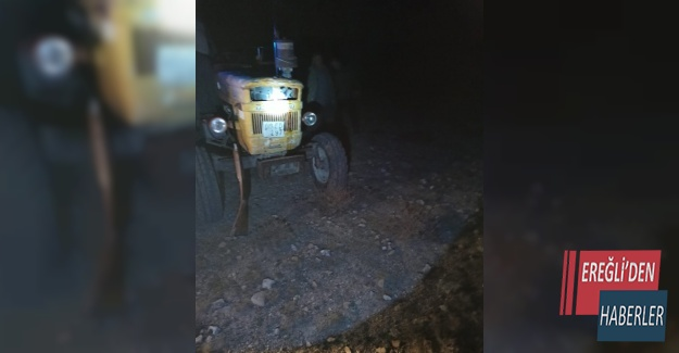 Konya'da av için traktöründen oldular