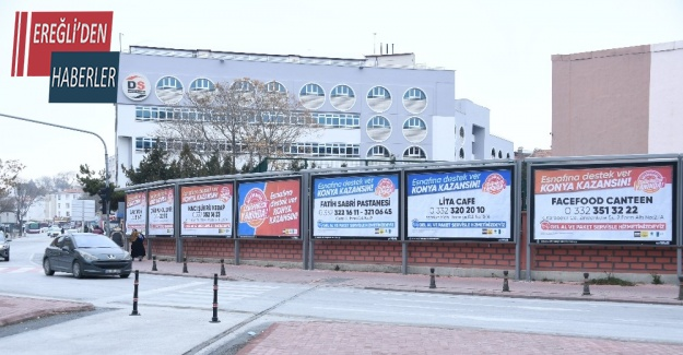 Konya'da esnafa reklam desteği