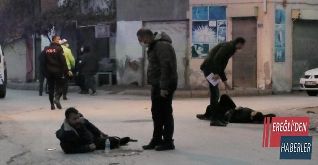 Ereğli'de sokak ortasında silahlı kavga: 3 yaralı