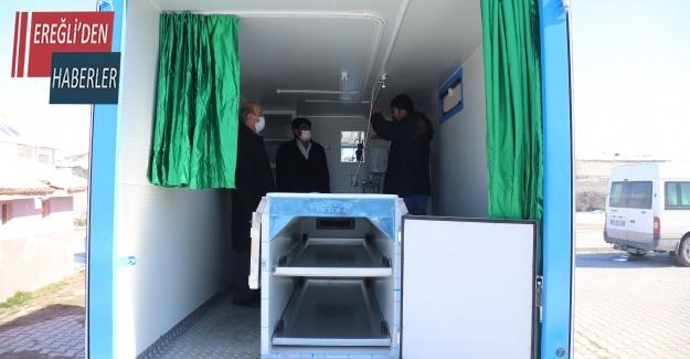 Ereğli Belediyesinden Hortu Mahallesine Cenaze Yıkama aracı