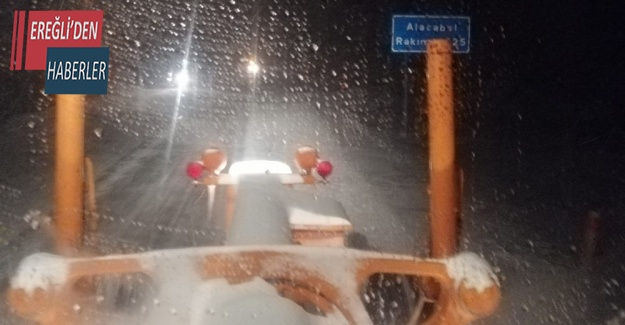 Konya Antalya karayolunda kar yağışı etkili oldu