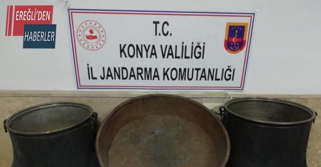 Konya'da kablo ve bakır kazan hırsızları tutuklandı
