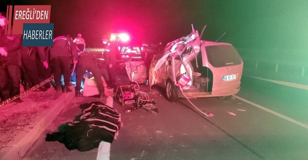 Konya'da otomobil tır ile çarpıştı: 3 ölü, 5 yaralı