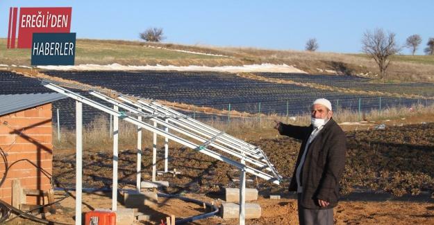 Konya'da tarla sulamak için kurulan güneş panellerini çalan hırsız bir ilçeyi bezdirdi