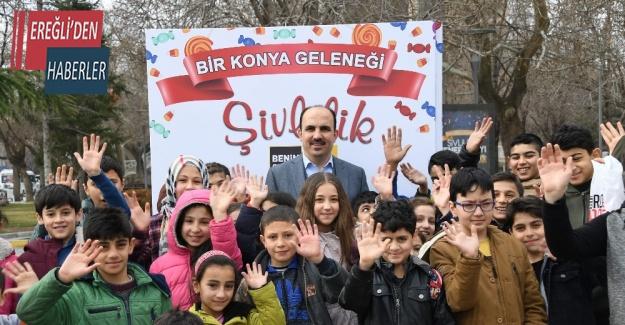 Konyalı çocukların Şivlilik hediyesi Büyükşehir'den