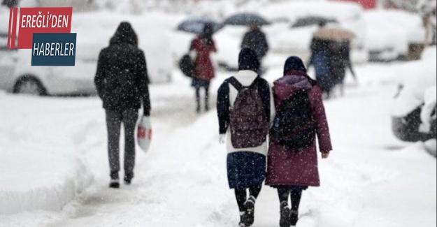 Konya'nın 15 ilçesinde yüz yüze eğitime kar engeli
