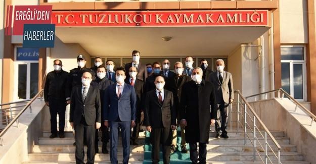 Vali Özkan Tuzlukçu ilçesini ziyaret etti