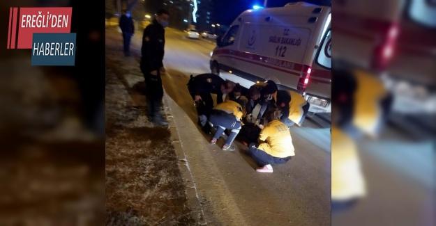Hafif ticari aracın çarptığı yaya ağır yaralandı