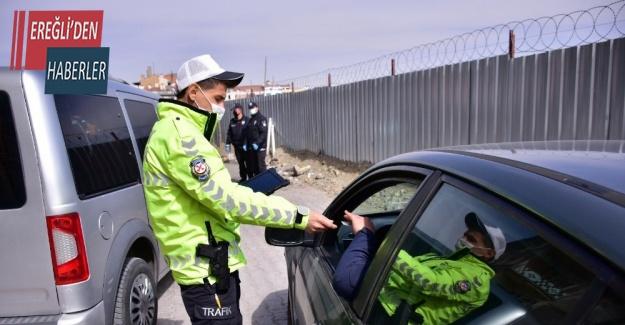 Konya'da 2 bin 304 sürücüye ceza