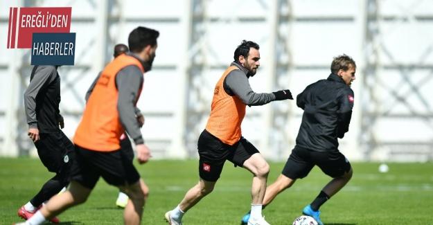 Konyaspor, Alanyaspor maçı hazırlıklarını sürdürdü