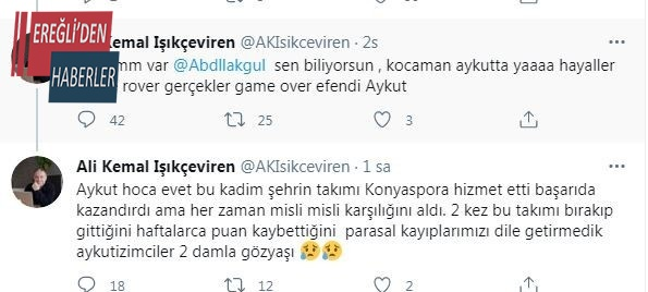 Konyasporlu yöneticiden tepki çeken Kocaman paylaşımı