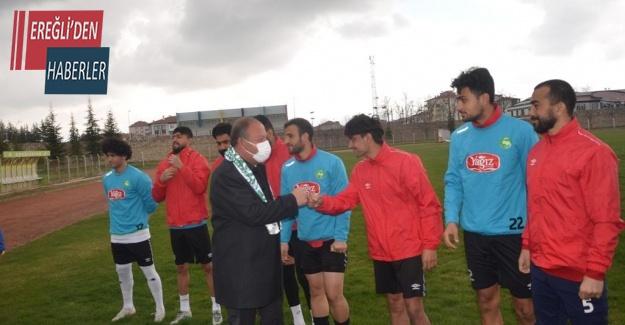 Başkan Oprukçu Ereğlispor'a moral ziyareti