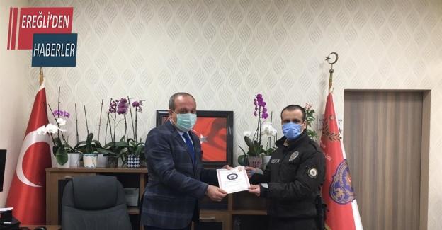Emniyet Müdürü Mustafa Aydın başarılı bekçileri ödüllendirdi