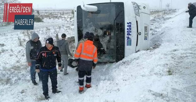 Konya 'da 2 tur otobüsü kaza yaptı: 1 ölü, 40'dan fazla yaralı