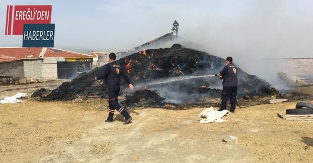 Konya'da 3 bin 500 balya saman yandı
