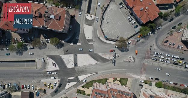 Konya'da kavşak düzenlemesiyle hem trafik rahatlayacak hem karbon salınımı azaltıldı