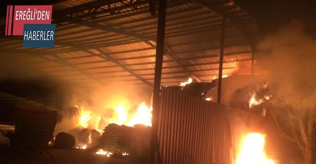 Konya'da saman balyaları yandı
