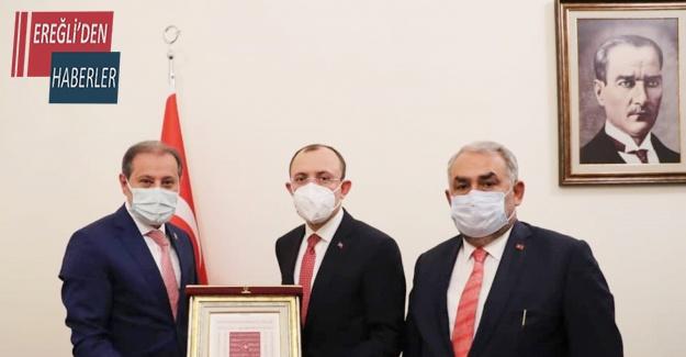 Başkan Karabacak'tan Bakan Muş'a hibe ve yapılandırma teşekkürü