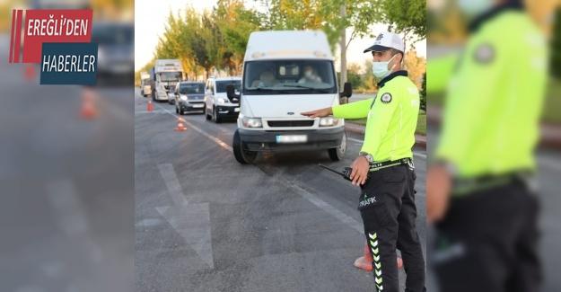 Konya'da 2 bin 395 sürücüye ceza
