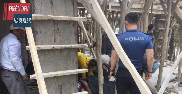 Konya'da inşaattan düşen işçi yaralandı