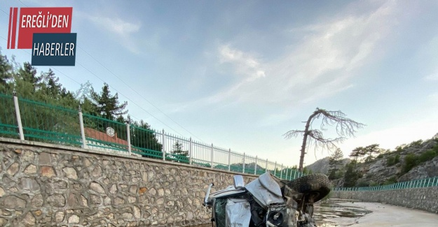 Konya'da kamyonet kanala uçtu: 4 yaralı