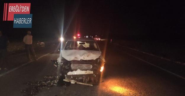 Otomobil sürüye daldı, 14 koyun telef oldu