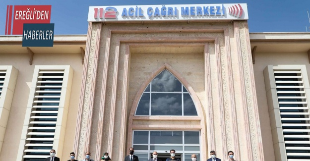 Vali Özkan, 112 Acil Çağrı Merkezi Müdürlüğü'nde incelemelerde bulundu