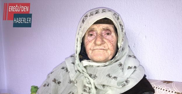 100 yaşındaki Müzeyyen nineye polis şefkati