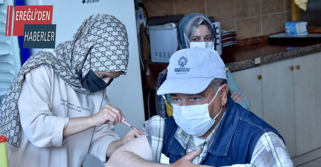 Karatay Belediyesi personeli Covid-19 aşısı oluyor