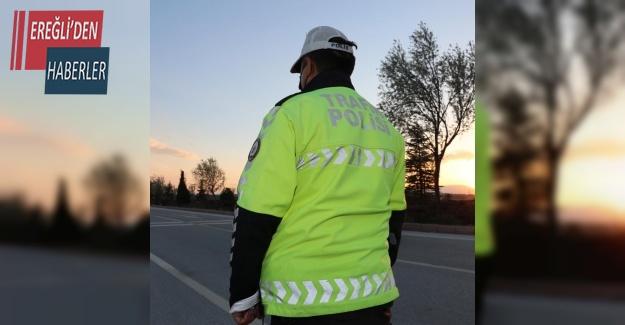 Konya'da trafik kurallarına uymayan bin 453 sürücüye ceza