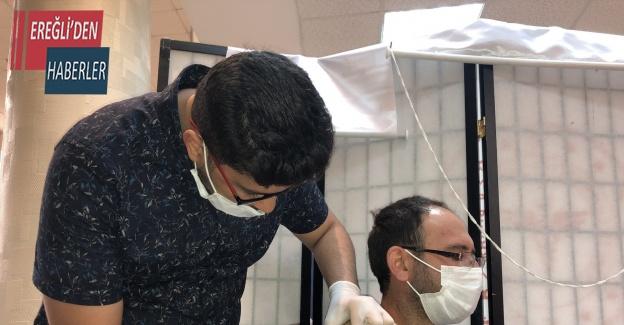 Konya'da 'yerinde aşı' uygulamasıyla ilk günde 510 kişi aşılandı