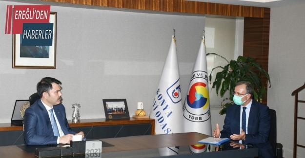 KSO Başkanı Kütükcü, Bakan Kurum'dan Konya OSB'ye destek istedi