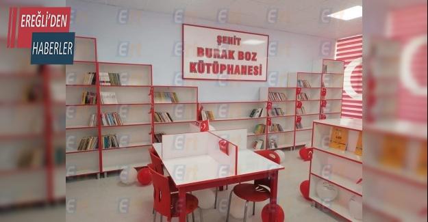 Şehit Burak Boz'un ismi kütüphanede yaşatılacak