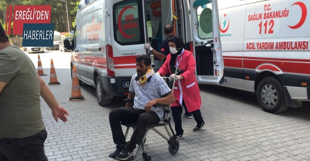Konya'da hafif ticari araç takla attı: 4 yaralı