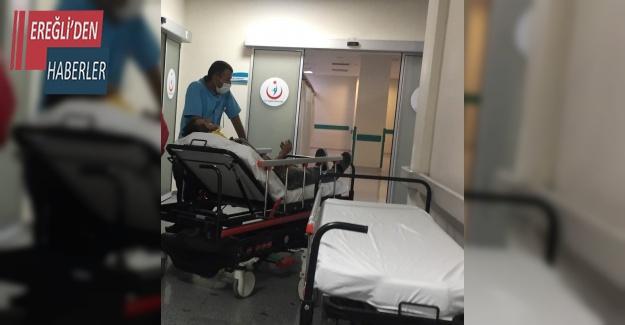 Selektör makinesinden düşerek yaralandı