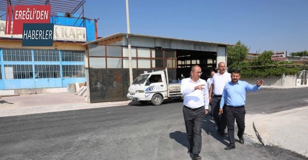 Yeni Meram Sanayi'de esnafla belediye el ele verdi