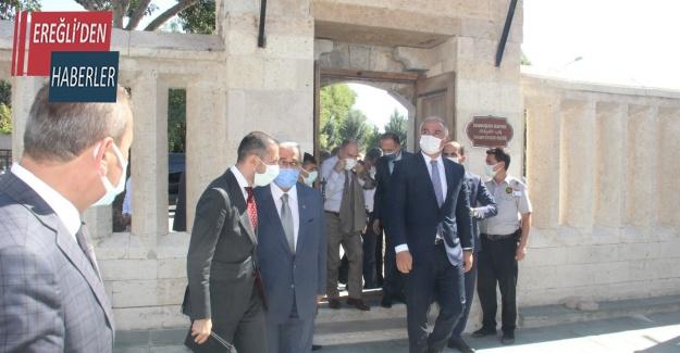 Bakan Ersoy, Mevlana Müzesi restorasyon çalışmalarını inceledi