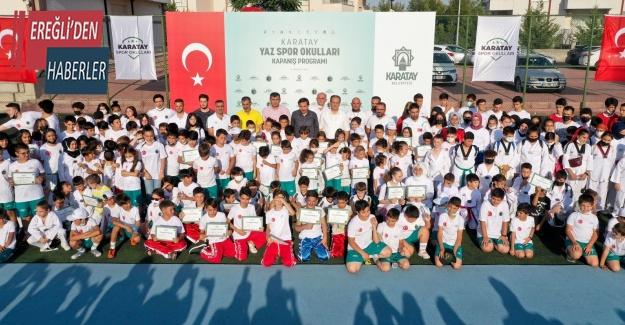 Karatay Yaz Spor Okulları'nın kapanış programı gerçekleştirildi