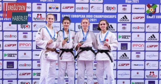Konya BüyükşehirBelediyesporun milli judocusu Avrupa üçüncüsü oldu