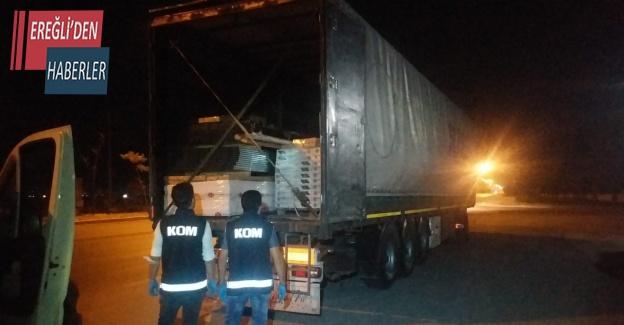 Konya'da 13 milyon adet gümrük kaçağı makaron ele geçirildi