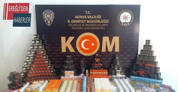 Konya'da 6 bin 92 adet kaçak cinsel içerikli ürün ele geçirildi