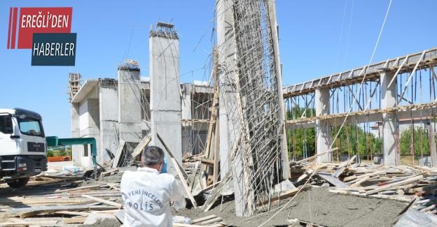Konya'da beton dökerken kalıp çöktü: 3 yaralı
