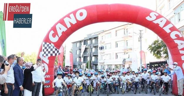 Meram'ın mahallelerinde bisiklet yarışları devam ediyor