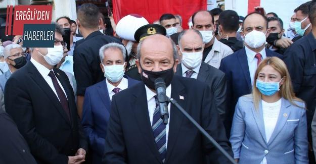 """KKTC Cumhurbaşkanı Tatar: """"Güçlenen bir Türk devleti olarak yolumuza devam ediyoruz"""""""