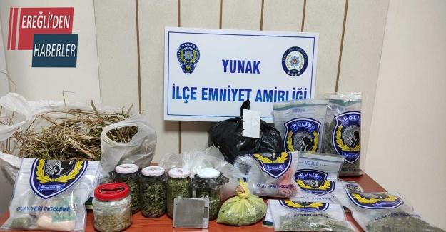 Konya'da 6 yıl cezaevinde yatıp çıkan şahıs tekrar uyuşturucudan tutuklandı