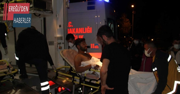 Konya'da bıçaklanan genç yaralandı